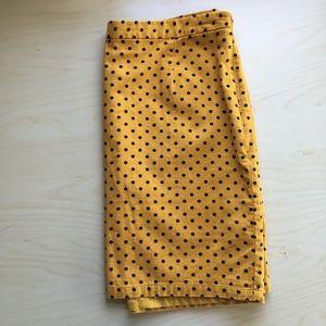 GAP Yellow Pencil Skirt w/Black Polka Dot SIZE 14